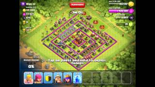 Clash of Clans Trophy Challenge to 3k with T1 troops Crystal League] a3
