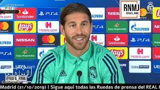 Galatasaray vs. Real Madrid Rueda de prensa previa de SERGIO RAMOS Champions (21/10/2019)