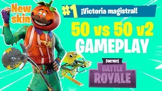 WIN WITH THE NEW SKIN HEAD OF TOMATE & PICO Axeroni! 50 vs 50 v2 Fortnite Battle Royale