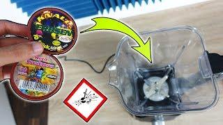 Was passiert mit Riesen Knallerbsen im Mixer? - Experiment