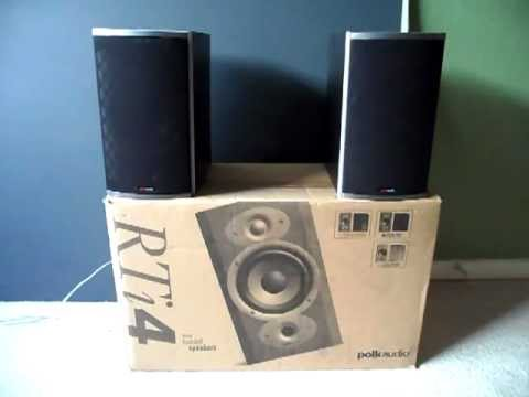 Video Re Do Polk Audio RTi4 Bookshelf Speakers Review Demo