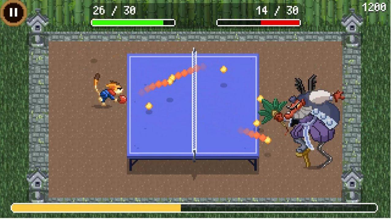 Winner !! Try it Game Google - Doodle Champion Island Games Begin, Session Tennis Meja