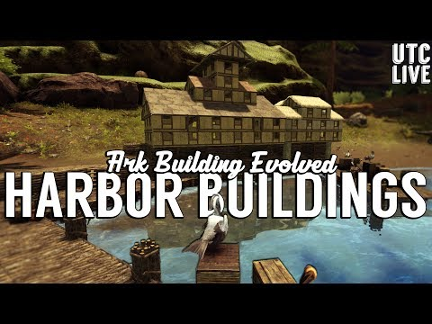 Ark Building Evolved Live :: Tudor Style Harbor Buildings :: Patreon Live Stream :: UniteTheClans