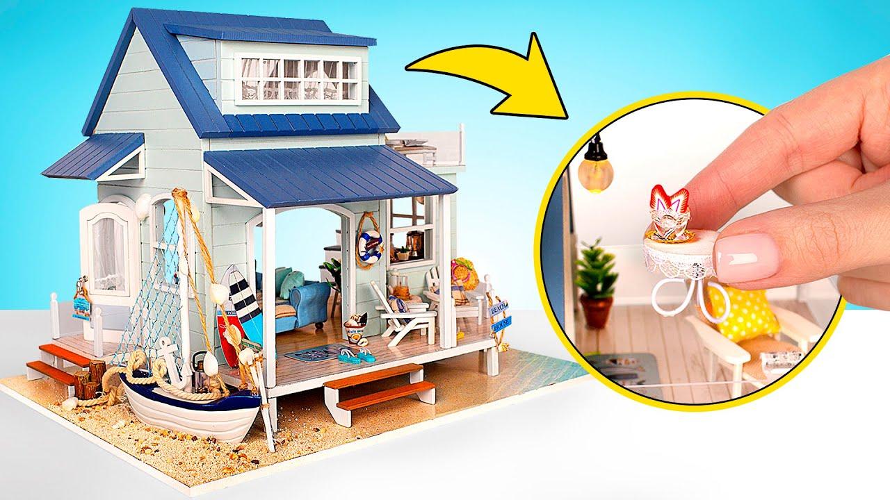 Una casa caribeña en miniatura DIY🏡 🌊