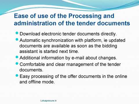How Does Electronic Tendering Bidder System Work?