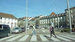 Switzerland 137 (Camera on board): Fribourg ville (place Python) Givisiez, direction Belfaux