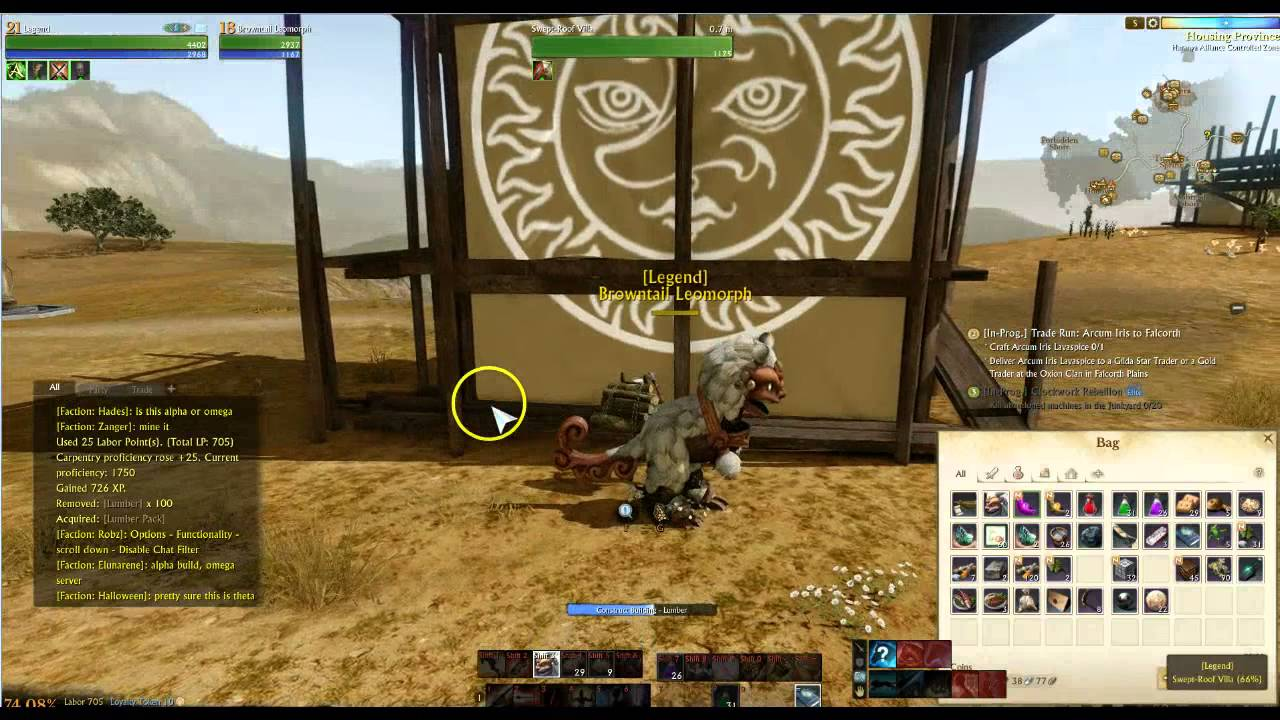 Archeage Online Mmorpg Building Your House In Omega New Alpha Server