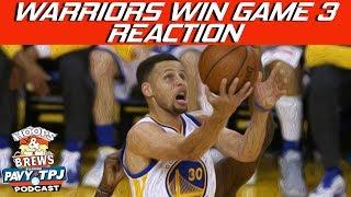 #89 Warriors Win Game 3 vs Rockets | Hoops N Brews thumbnail