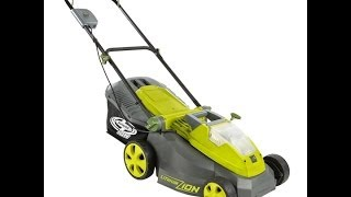 SUN JOE ION16LM Cordless Lawn Mower w/ Rechargeable Battery - Unboxing & 1st Mow