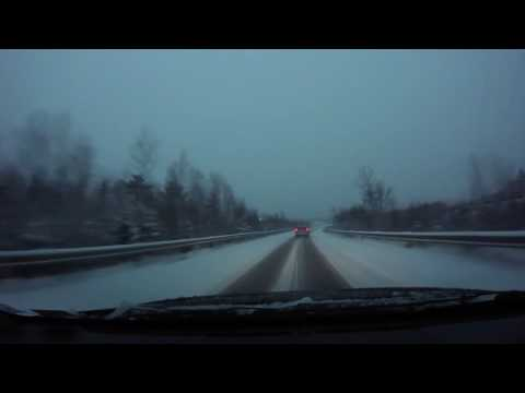 just a typical snowy drive home in halifax