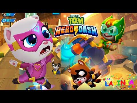 Обзор обновлений игры Talking Tom Hero Dash видео для детей! Видео игра Том за золотом Анджела!