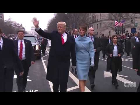 Russian Flag Flies Proudly at Trump inaugural parade HD