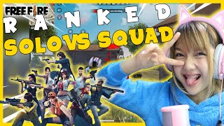 Solo Ranked VS Squad Ranked?!! Apa jadinya?! - FREE FIRE INDONESIA