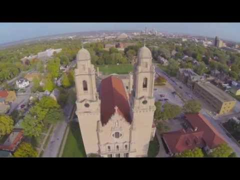 St. Cecilia Cathedral & Duchesne Academy From the Sky - Omaha, NE