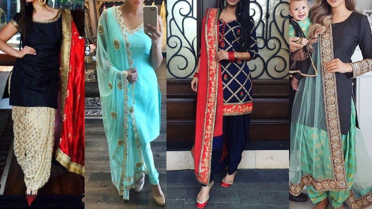 Punjabi Salwar Suit Designs || Latest Punjabi Suit Designs ...