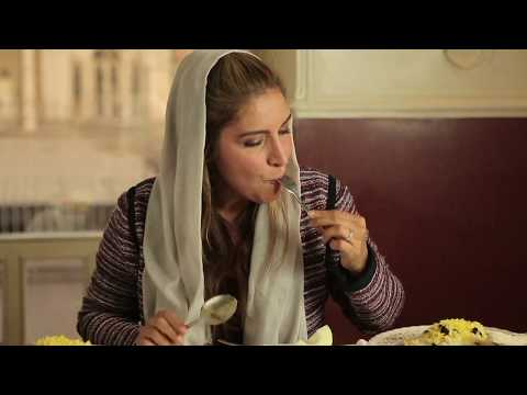 Ariana Feasting in Tehran restaurant
