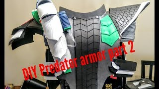 DIY Predator Cosplay armor build Part 2