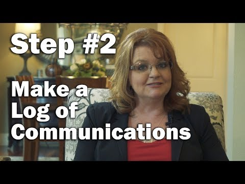 Step Two: Log all Communications and Events -  Top 10 action items when fraud is uncovered