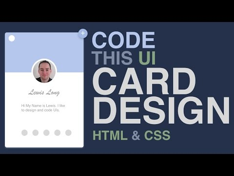 Code This UI - Card Design HTML/CSS