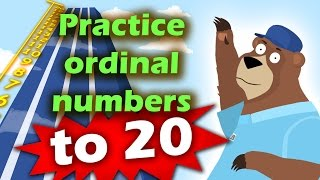 Learn and Practice Ordinal Numbers to 20 for Toddlers, Preschool and Kindergarten kids
