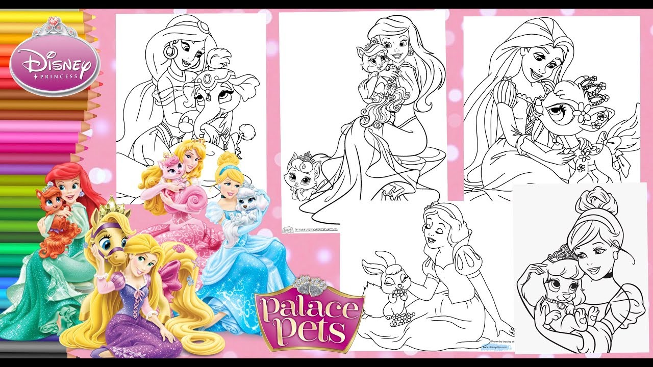 - Coloring Disney Princesses & Palace Pets - Coloring Pages For Kids