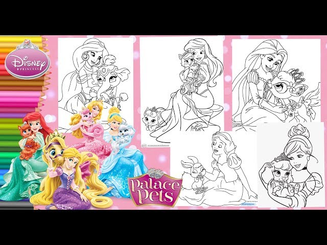 - Coloring Disney Princesses & Palace Pets - Coloring Pages For Kids - YouTube