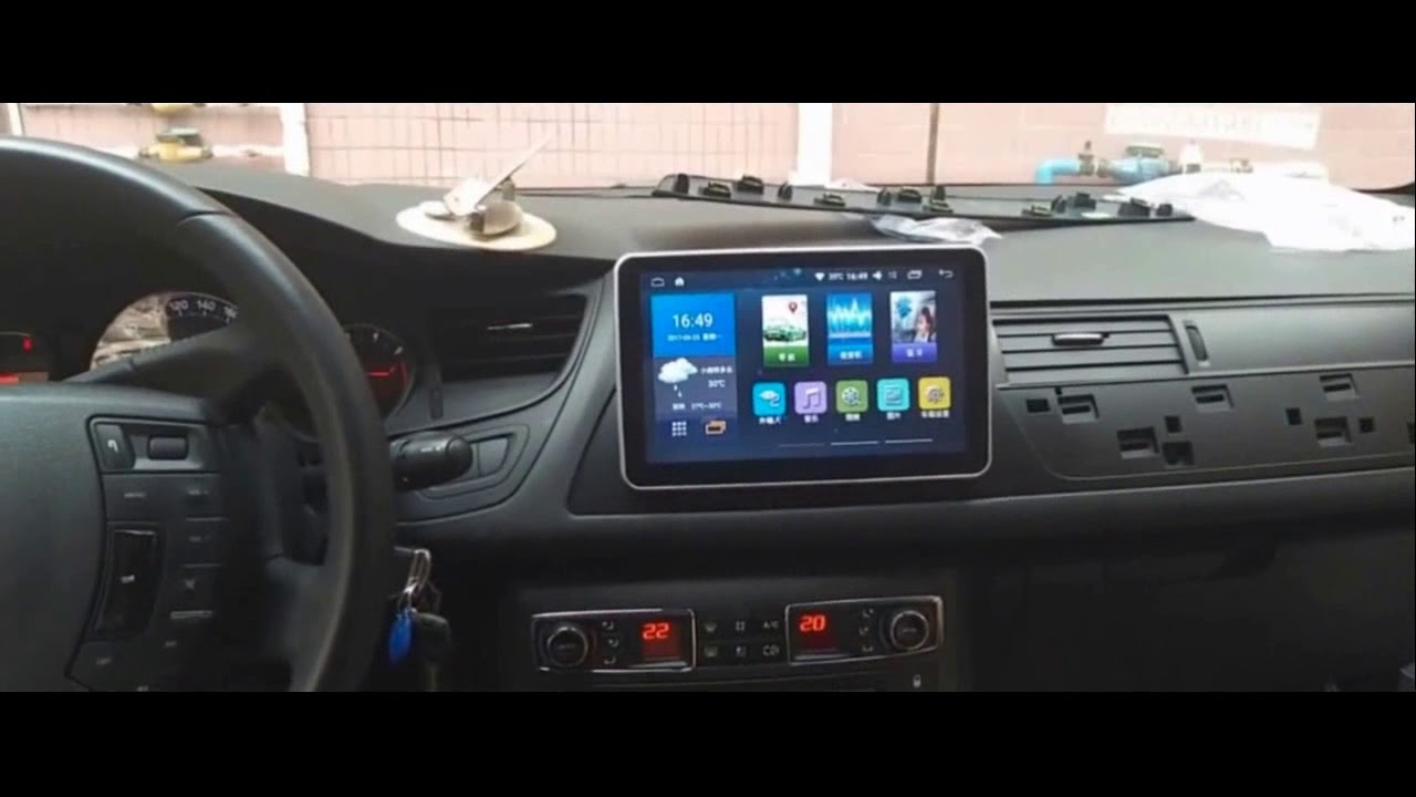 Citroen C5 9 Inch Android Multimedia Youtube