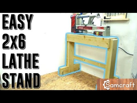 Easy 2x6 Wood Lathe Stand | Woodworking Woodturning DIY How To