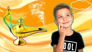 The Magic Lamp. What did Mark wish? Funny video for Kids.