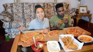 Download PREGNANCY CRAVINGS MUKBANG!(late upload) Pizza, Fried Chicken, Noodles, etc....| | LexiandVoni