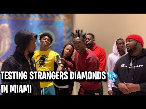 TESTING STRANGERS DIAMONDS FT. FREDO BANG MIAMI MALL EDITION | *NEW PUBLIC INTERVIEW*