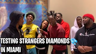 Download TESTING STRANGERS DIAMONDS🥶💎 FT. FREDO BANG MIAMI MALL EDITION | *NEW PUBLIC INTERVIEW* Mp3 and Videos