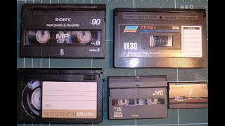 Small video cassettes explained.