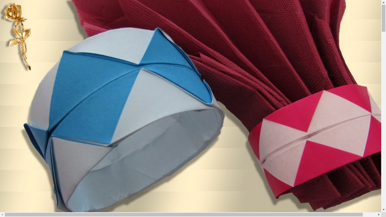 origami facile bracelet rond de serviette youtube. Black Bedroom Furniture Sets. Home Design Ideas