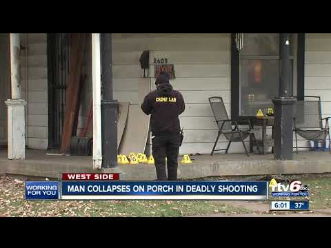 Man shot and killed on porch in Indianapolis