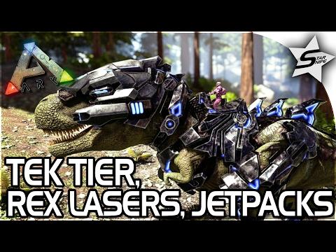 ARK TEK TIER UPDATE! - REX LASERS, JETPACKS, TEK GUNS, SO MUCH MORE! - ARK Survival Evolved Gameplay