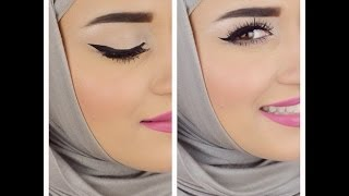 Eyebrows & Eyeliner tutorial .. كيفية رسم الحواجب والايلاينر Thumbnail