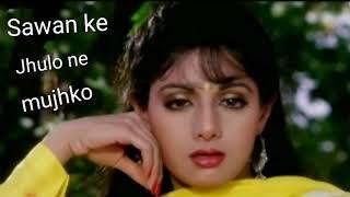 Sawan Ke Jhoolon Ne | Sunny Deol & Sridevi | Hindi Romantic Song | Full Video - Nigahen