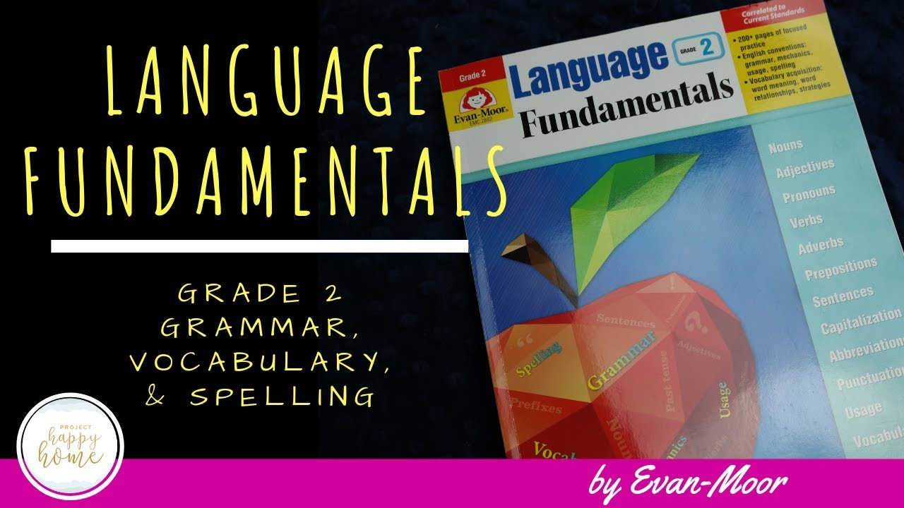 EVAN-MOOR LANGUAGE FUNDAMENTALS GRADE 2 WORKBOOK || Second Grade Homeschool  Language Arts Curriculum