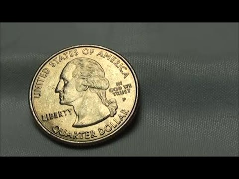 GOLD QUARTER FOUND in bank rolled coins