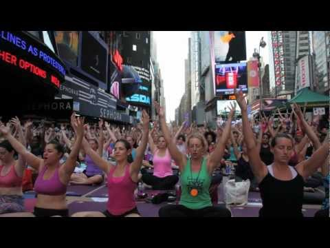 Solstice in Times Square: Mind over Madness Yoga with Dana Trixie Flynn