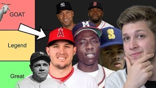 GREATEST MLB PLAYERS OF ALL-TIME TIER LIST