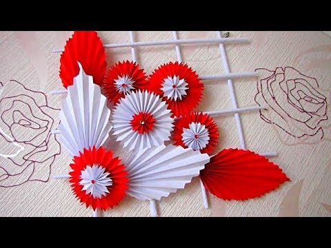 Wall Decoration Hanging Flower Paper Craft Ideas
