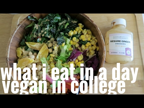 WHAT I ATE // COLLEGE STUDENT // NUTRIENT DENSE VEGAN