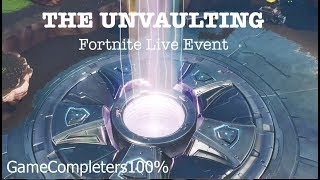 "Fortnite ""THE UNVAULTING"" Live Event (Loot Lake/Volcano Event) Season 8"