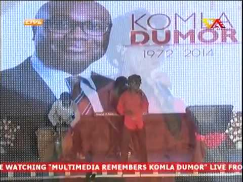 Kojo Antwi Sings at Multimedia Remembers Komla Dumor