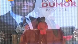 Kojo Antwi Sings at Multimedia Remembers Komla Dumor