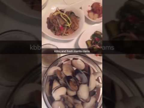 kbbq and fresh steamed manila clams