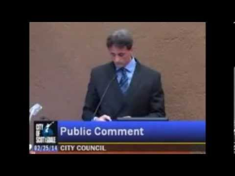 Marc Stevens Confronting Scottsdale City Council - Where's the Evidence Your Laws Apply?