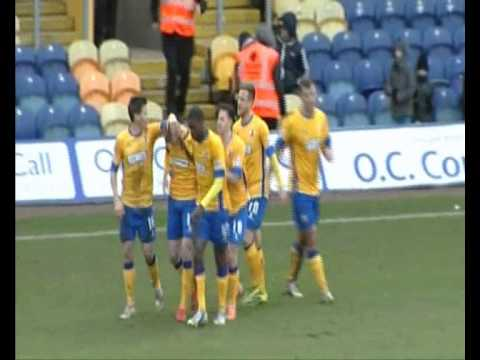 Sam Clucas brilliant control and goal for The Stags. Mansfield 2-1 Southend, 08Feb2014
